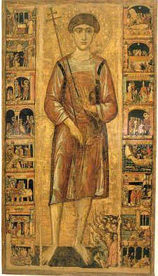 San Nicola il Pellegrino in una antica icona.