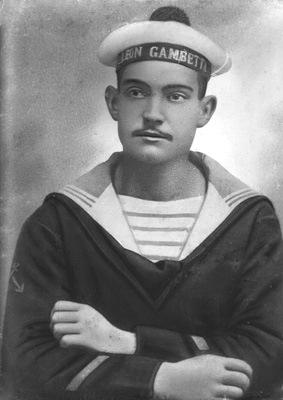Leonce Mauxion uno dei marinai dell'incrociatore Léon Gambetta