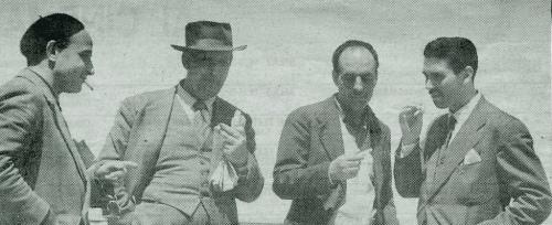 Vittorio Pagano, Vincenzo Ciardo, Vittorio Bodini e Vittore Fiore